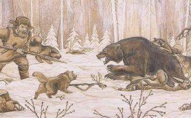 Охота на медведя с помощью остроги