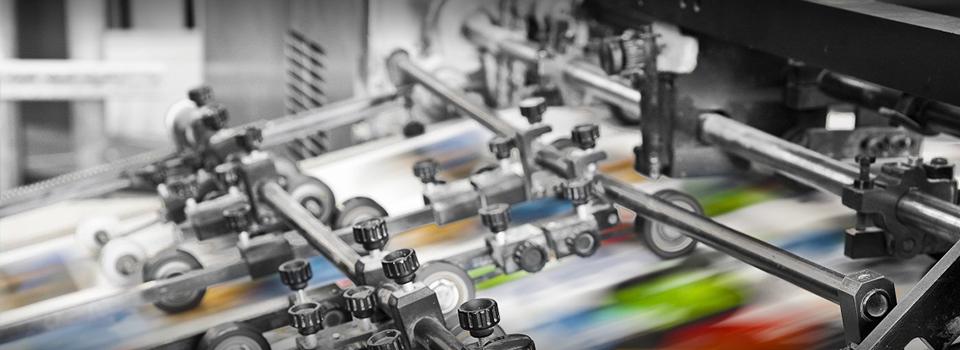 Полиграфия. Первые примеры печати на бумаге с помощью машин в полиграфии