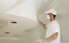 Как побелить потолок?